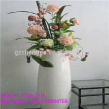 landscape and decoration white pot artificial flower pot