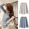 2014 HOT SALE Korean style fashion Women's Spring Autumn Long Sleeve O-neck Fashion Loose Knitted Pullover Sweater 19335