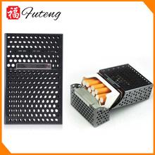 popular Back 20pcs cigarettes Metal hollow-out plastic cigarette case