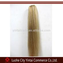 Long Human Hair Silk Straight 27#/613# Mix Color Clamp Ponytail & drawstring ponytail