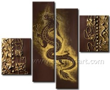 handmade dragon painting wall art for decor