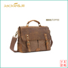 GF-A47 Canvas with crazy horse leather brown messenger bag