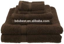New 100-Percent Egyptian Cotton Bath Hand Towels Washcloth 6 Piece Set Cocoa