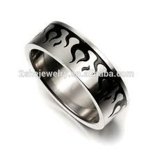 High Quality Fashion wood inlay tungsten ring