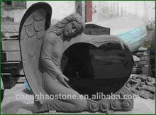 Black Granite Angel Headstone