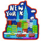 City View PVC 3D Magnet, New York Souvenir Magnets PVC