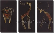 animal designs for fabric painting with framed from China