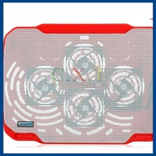 COOLCOLD PRO Fashionable Quad-fan Notebook Cooling Pad (Red)