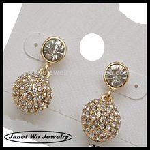 best quality fashion zinc alloy pave stones earrings