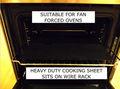 Forno de cozimento& pizza bandeja antiaderente teflon liner 50x40cm pizza congelada gosto real