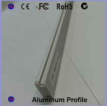 Top selling decorative flat aluminum profiles led strip with pmma diffuser for led hotel lighting in shenzhen