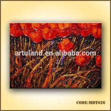 Red roses oil paintings