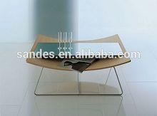 Costom Pure Unique Square Low Plastic Acrylic Coffee Table Design