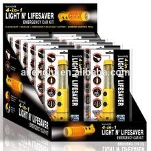 4 IN 1 LIGHT N' LIFESAVER EMERGENCY CAR KIT