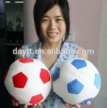 licensed production soft ball toy soccer 2014 mini plush soft soccer ball