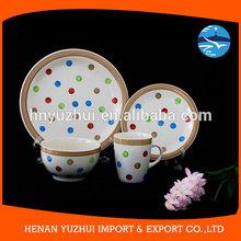 new fashion design chinaware set / stoneware handpainted / dish set