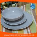 Eco- friendly recurso pratos de faiança branca, branco louça de grés conjuntos