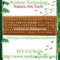 caldo di nuovi prodotti peril 2015 layout arabo tastiera di legno 108 tasti della tastiera con cavo