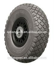 rubber wheel turf pu wheel flat free tire for hand trolley Kayak and wagon rubber wheel