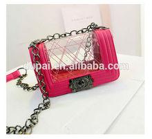 New fashion metal chain for handbag brand transparent lady shoulder bag