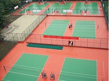 Silicon PU Sports Surface For Badminton Court Sports Flooring