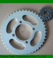 Dajin 1023 bajaj completa de la cadena y la rueda dentada/piezas de la motocicleta de la rueda dentada de la cadena/suzuki ax100 partes