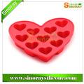 10- cavidades bonito adorável coração de gelo forma/bolo/chocolate/açúcar silicone mini cubo ofício fondant de molde da bandeja