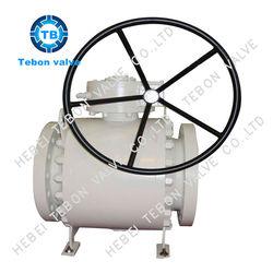 regular type ball valve worm gear operated