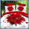wholesale reactive flower printed 3d bedding set king size