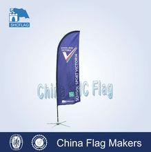 New portable custom beach flags pole/mini polyester beach flag/outdoor advertising beach flag
