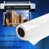 180g High Glossy Inkjet Paper Roll