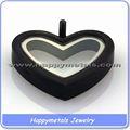Semplice medaglione ciondolo in filigrana, cuore in filigrana argento fascino medaglione galleggiante