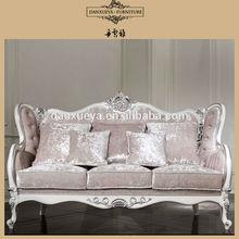 Living room furniture three seat curved shape freeform fabric sofa HY001#