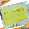 New! clear transparent plastic business cards with gold / silver embossing