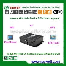 H.264 SD Card Mobile DVR G-Sensor 3g GPS wifi firmware