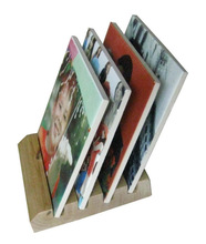 wooden stands with a sublimation tile