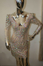 2014 real made new arrivals bling long sleeve crystal online shopping gown TM1579 evening dresses from dubai