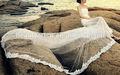 womwn elegante laço tubo superior de noiva da princesa peixe cauda vestido de casamento trem vestido formal
