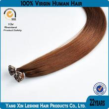 SGS&BV factory 100%human remy cuticle cheap Hair Extensions Flat Keratin Tip