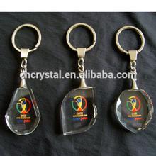 crystal key chain ,color print crystal keychain keyring MH-YS0418