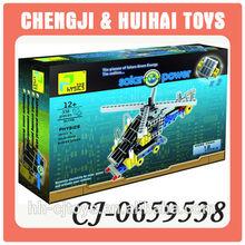 12 in 1 bildungs-diy baustein solarstrom spielzeug hubschrauber für kinder