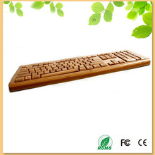 new products looking for distributor eco-friendly handmade wood wired keyboard spanish version keyboard 108 keys