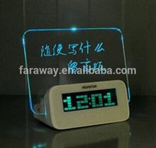 antique message table clock for children