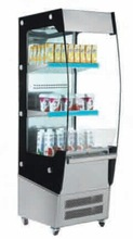 Stainless Steel Shelves 180 liters open display cooler