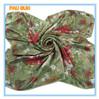 Hangzhou flower digital printed 100% silk square 2014 ladies fashionable scarf