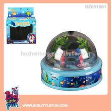 Battery operated swimming fish toy fish aquarium tank