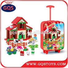 Happy farm toy 85PCS plastic building blocks toys for kids