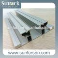 Solar pv perfiles de aluminio y rieles de montaje