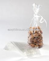 Side gusset clear plastic square flat bottom bopp bag