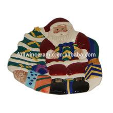 New Arrival Ceramic Christmas Santa Plates